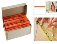 Carpenter Pencils 72-Pack Over-Sized for Saw Lines Drill Pits Wood Flat Hex New