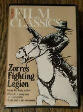 Zorro's Fighting Legion Video Film Classics 2 Tape Set (VHS, 1984)