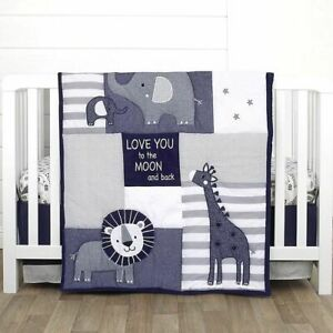 NoJo Love You to the Moon 3 Piece Crib Bedding set  see details Jungle Elephant