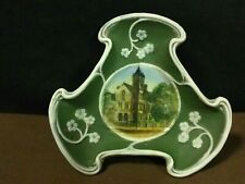 "Antique Ges Gesch ""Owatonna,Mn Courthouse""Triangle Green/White Depose Small Dish"
