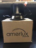 Amerlux LED Hornet HP Round Lensed Downlight Matte Black Finish Black Flange