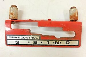 Drive Control Gear Selector Bracket for a Simplicity Sno-Away 7 Snow Blower 7hp