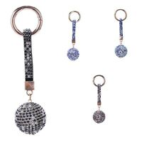 Strap Ball Car Keychain Charm Pendant Key Ring For Women Z4T8