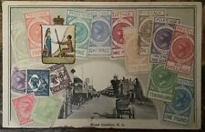 ANTIQUE PHILATELIC INTEREST PC EMBOSSED SOUTH AUSTRALIA STAMPS & MOUNT GARNBIER