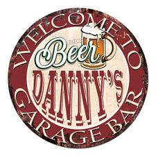 Cpbg-0101 Beer Danny'S Garage Bar Chic Tin Sign Man Cave Decor Gift Ideas