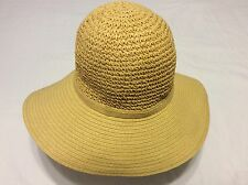 FREE PEOPLE Women's Miller Brim Floppy Hat Straw Color