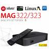 MAG 322 Genuine Original Infomir IPTV/OTT Box, Faster than MAG254 Tv Box