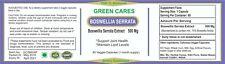 BOSWELLIA SERRATA EXTRACT CAPSULE 500Mg 75% BOSWELLIC ACID
