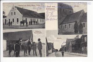 KREIS STENDAL , GRUSS AUS DOBBERKAU , GASTHOF z. EICHE , BISMARK 1923
