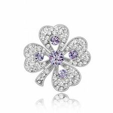 Cubic Zirconia Flowers & Plants Fashion Brooches