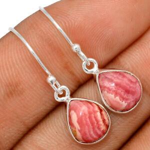 Rhodochrosite - Argentina 925 Sterling Silver Earrings Jewelry BE63352