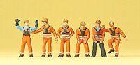 Preiser 10245 H0, Rangierpersonal DB, 6 Figuren