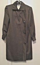 Givenchy Vintage Nouvelle Boutique Brown Pinstriped Coat-Dress Sz 36/6