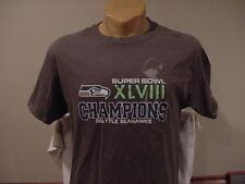 fb5b7d0f8 AWESOME Seattle Seahawks Men s Sz Lg Super Bowl XLVIII Champs Gray T-Shirt