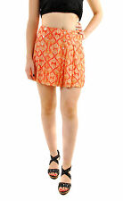 Free People Women's Lovers Lane Mini Printed Skirt Red RRP £64 BCF69
