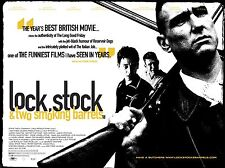 """Lock Stock and Two Smoking Barrels  16"""" x 12"""" Reproduction Movie Poster Photo"""