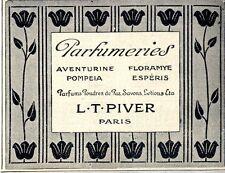 L.T.Piver Paris Parfumeriers II. Historische Annonce 1913