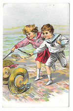 Victorian Trade Card Dr Free's York PA Dental Parlors Children Hoop Rolling Hats