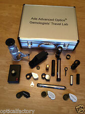 Gemologists' Travel/portable Lab! Gem Microscope,Chelsea Filter,Refractometer