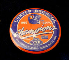 Denver Broncos 1987 AFC Champions Super Bowl XXII pin button