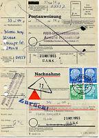 Bund 184 MiF Buntfrankatur Heuss waagerechtes Paar BRD Vollstempel Postanweisung