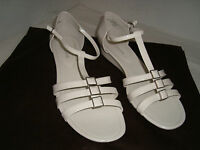 Enzo Angiolini New Womens Nyler White Patent Wedge Sandals 9.5 M Shoes NWOB