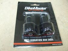 "BIKEMASTER ANODIZED BLACK ANTI VIBE BAR ENDS WEIGHTS MOTORCYCLE 7/8"" HANDLEBARS"