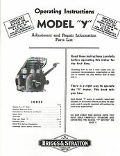 Briggs Amp Stratton Model Y Operating Instructions Gas Engine Hit Miss Motor