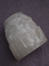 Beautiful Natural Selenite Mountain Candle Holder