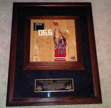 Michael Jordan UDA Game Used Signed Chicago Bulls Basketball Finals Court #8/23