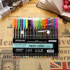 18x Color Gel Pen Glitter Scrapbooking Ink Pens Adult Drawing Painting Craft Art