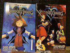 Kingdom Hearts Final Mix Vol 1 and 2 by Shiro Amano Manga Great Condition