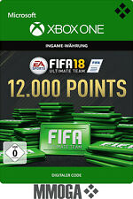 Xbox One - FIFA 18 12000 Points Ultimate Team - 12,000 FUT Point Key Code - DE