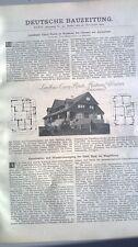 1902 95 Landhaus Curry Reute Niederau bei Diessen Ammersee Burg Kanalisation