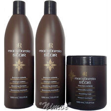 Macadamia Star Tri Max: 2 x Shampoo 1Lt + Mask 1Lt RR Line ® Racioppi Nourishing