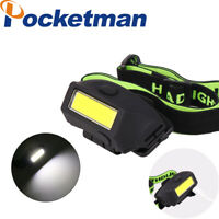 Ultra Bright COB LED Headlamp Rechargeable 3 Modes Headlight Built-in Battery
