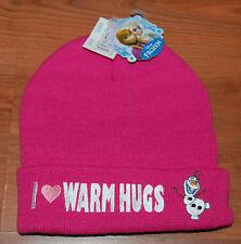 New Girl Winter Knit Hat with Pom Pom Disney Frozen Olaf Nwt