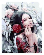 Paint By Numbers Kit Women Girl with Dragon Tattoo Van-Go 40CMx50CM Canvas