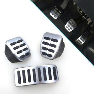 Car Clutch Gas Brake Foot Pedal Cover For VW Bora Golf MK3 MK4 Vento Lupo Polo
