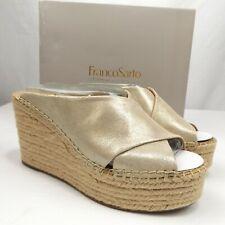 Women's Franco Sarto Tiffany Platino Wedge Heels Espadrilles - Light Gold - 8M