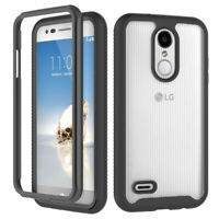 For LG Rebel 4 LTE (L212VL) Phone Case Hybrid Bumpers Shockproof TPU Clear Cover