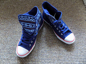 Converse All Star size 7.5 hi top blue suede lace up brand new