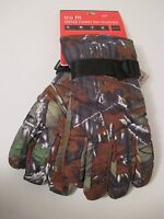 NWT TRUFIT INSULATED Brown Camo Hunting Waterproof Ski Winter GLOVES~Size XL