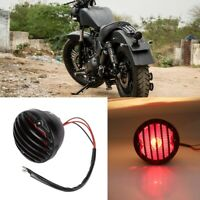 Motorcycle Retro Red LED Rear Tail Stop Light Taillight Brake Lamp For ATV Quads