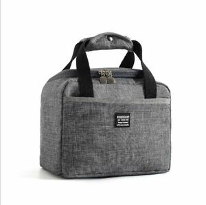 Insulated Lunch Bag Portable Tote Thermal Cooler Box Bento School Food Container