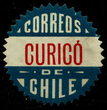 CHILE, OFFICIAL SEAL, CURICÓ, SAWTOOTH, MNG