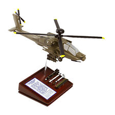 US Army Boeing AH-64D Apache + Ordnance Desk Display 1/57 Helicopter MC Model