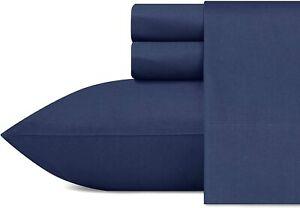 Nautica - Percale Collection - Bed Sheet Set - 100% Cotton, Crisp & Cool, Lightw