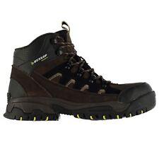 Dunlop Hombre Caballeros Cuero Sintético Seguridad Tobillo Cordón Zapatos Botas