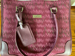 Mary Kay Consultant Tote Carryon Luggage Burgundy Shoulder Straps Snap, New.
